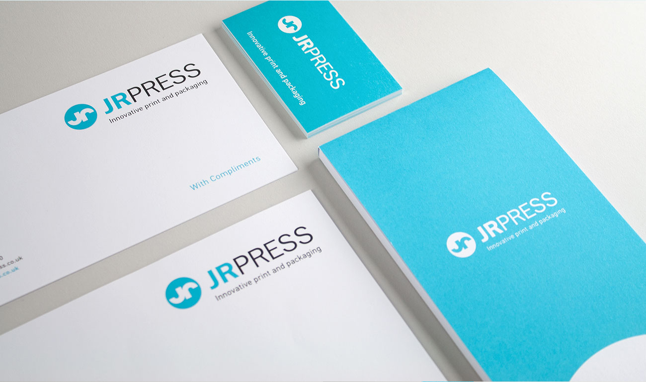 JR Press Stationery Logo and Branding Design