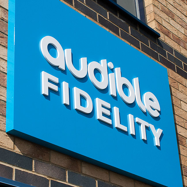 Audible Fidelity Signage Branding Design