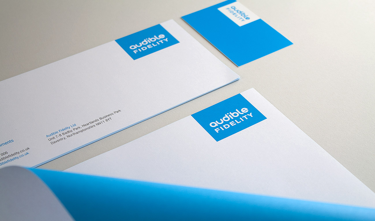 Audible Fidelity Stationery Logo and Branding Design