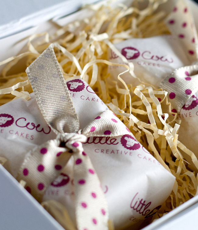 Packaging design for Little Cow Creative Cakes