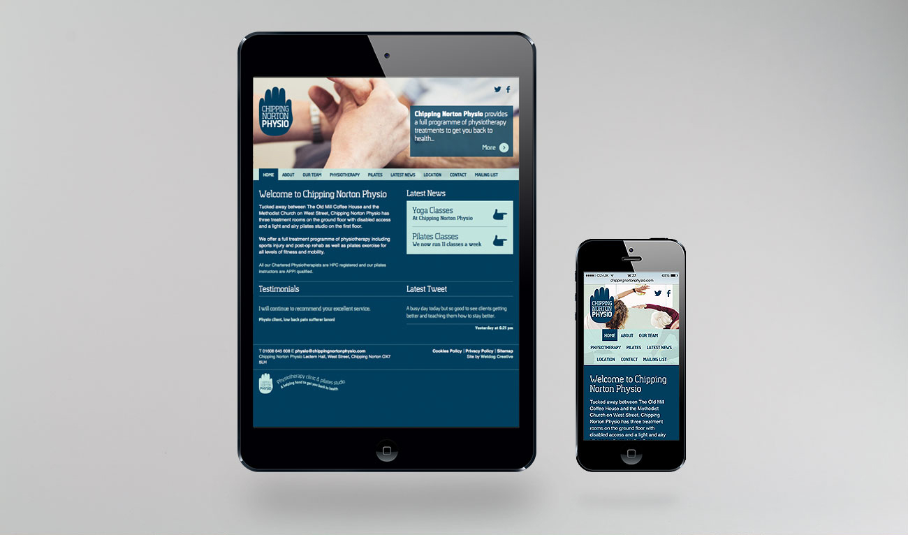 Chipping Norton Physio Responsive Website Design