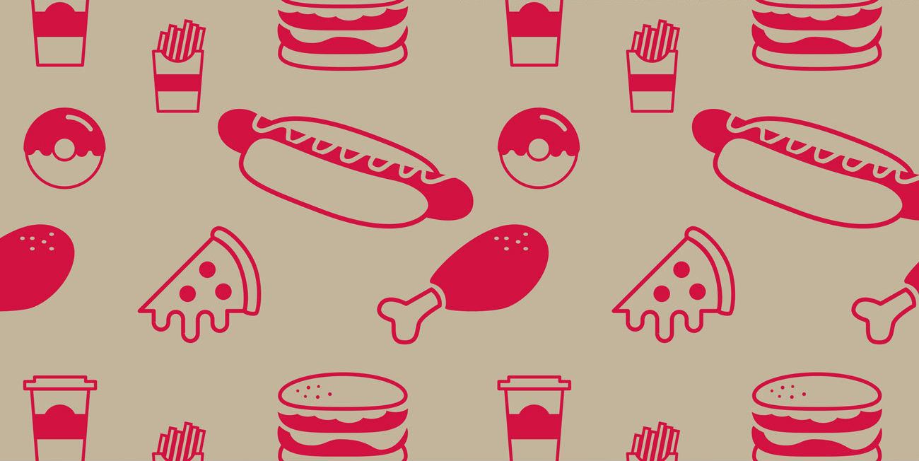 Fast food design grease-proof paper design