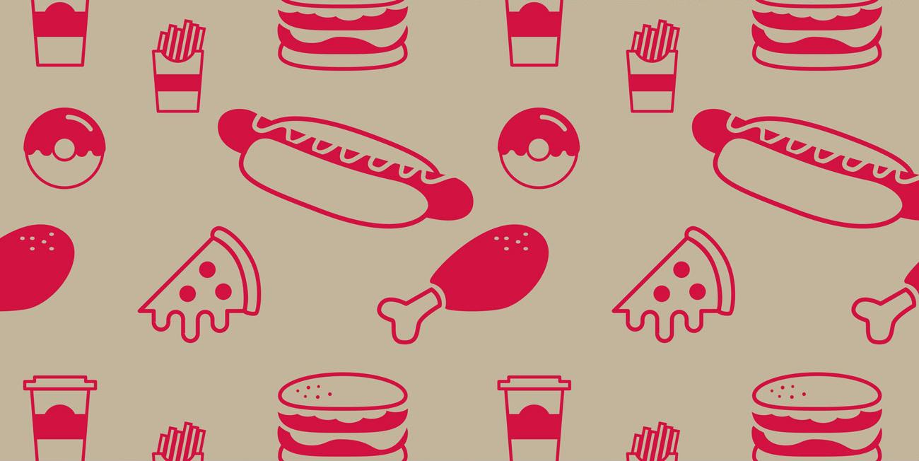 Fast food design grease-proof paper design