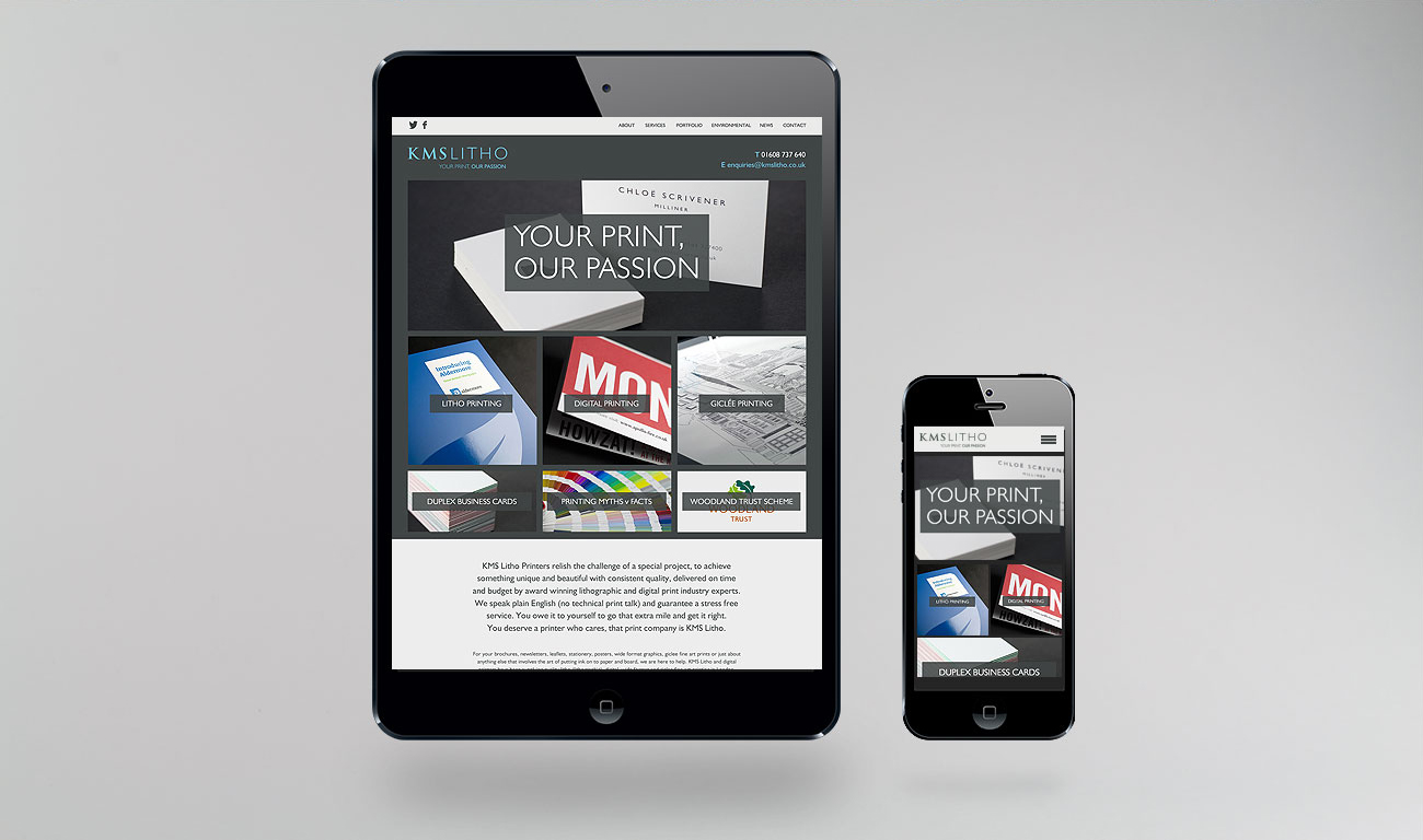 KMS Litho Responsive Website Design