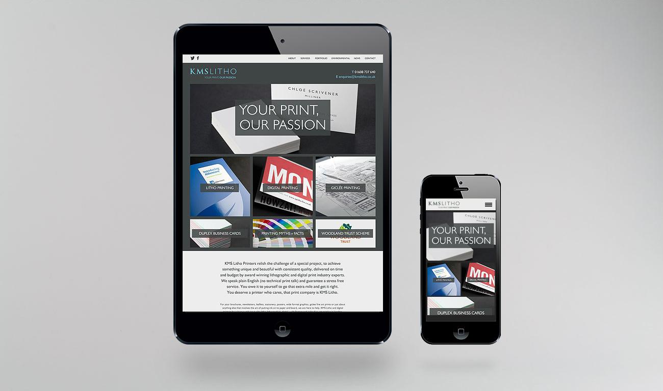 KMS Litho Responsive Website Design