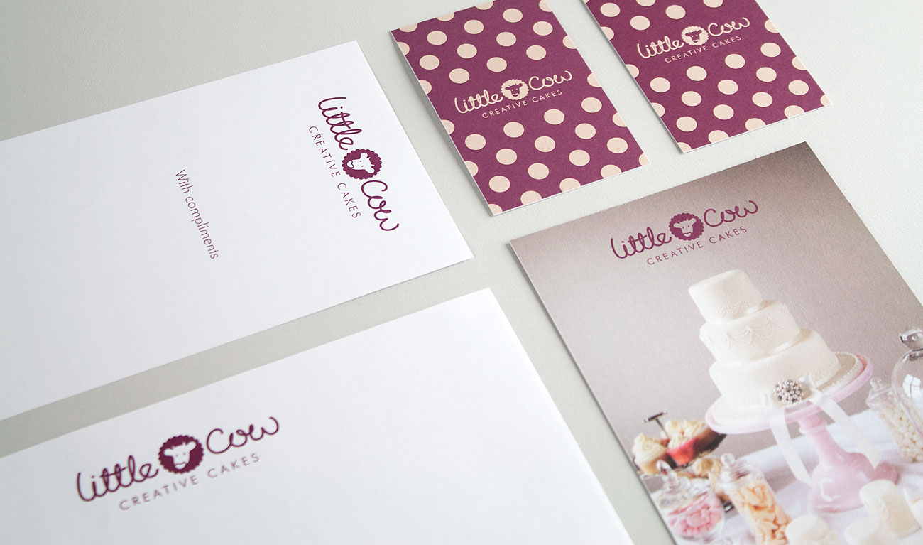 Cake Design Catalogue : Little Cow Creative Cakes Brand ID by Wetdog Creative