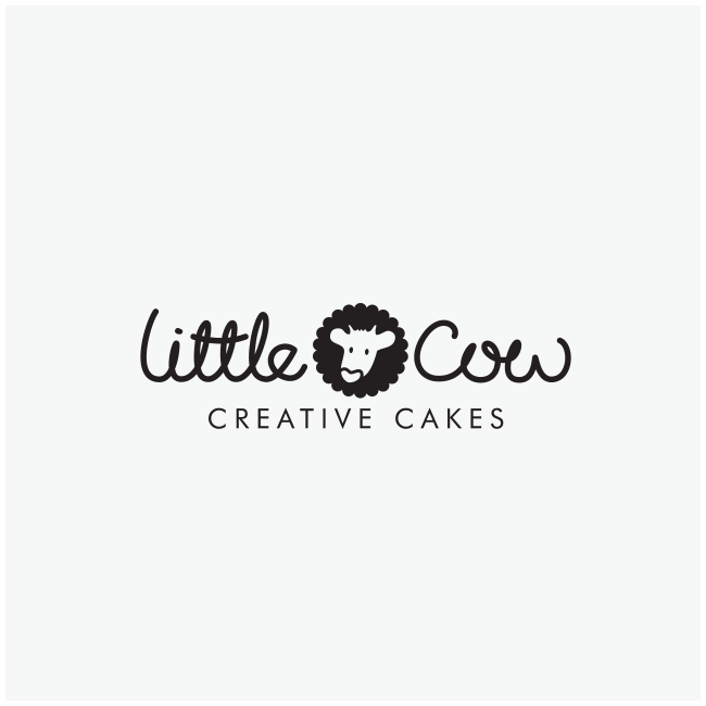 Little Cow Creative Cakes Logo Design and Branding by Wetdog Creative
