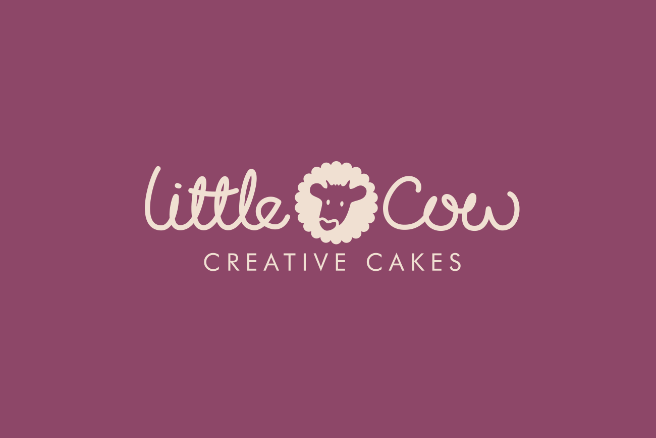 Little Cow Creative Cakes Logo and Branding Design