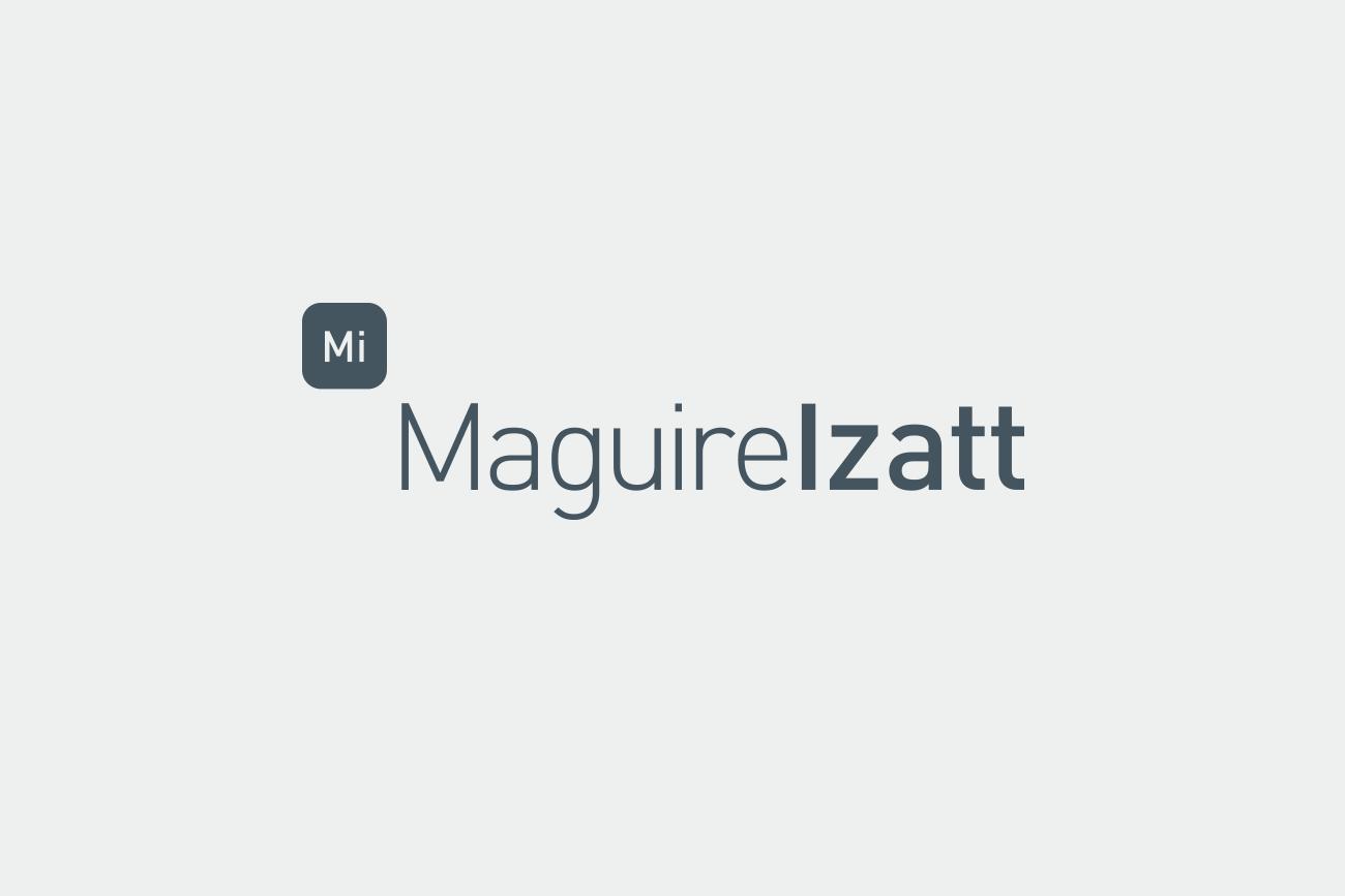 maguire izatt logo designed by wetdog creative