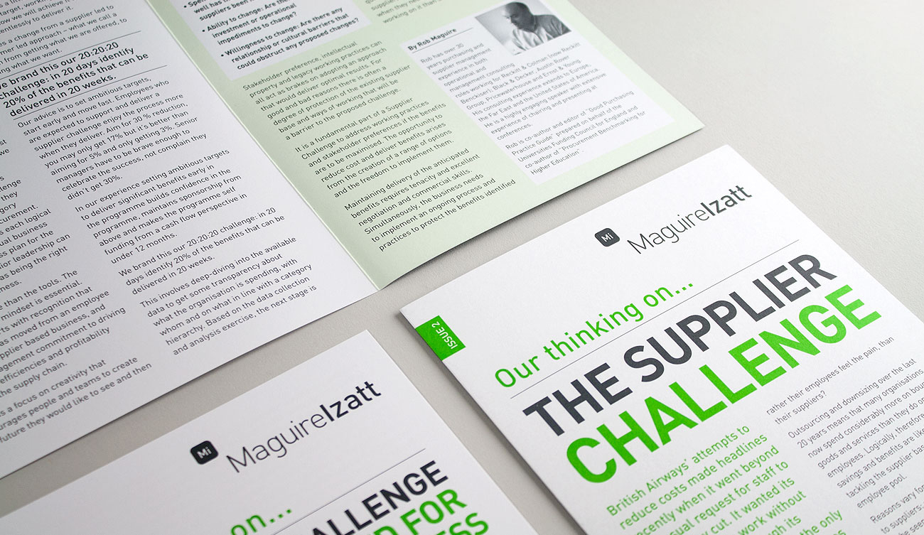 Litho printed 4 page article leaflets