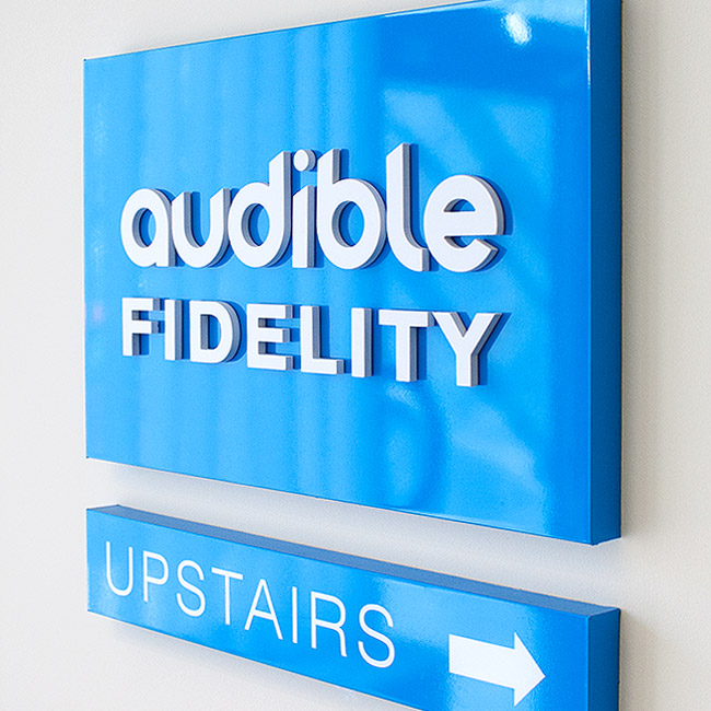 Audible Fidelity Signage Design by Wetdog Creative Signage and Branding