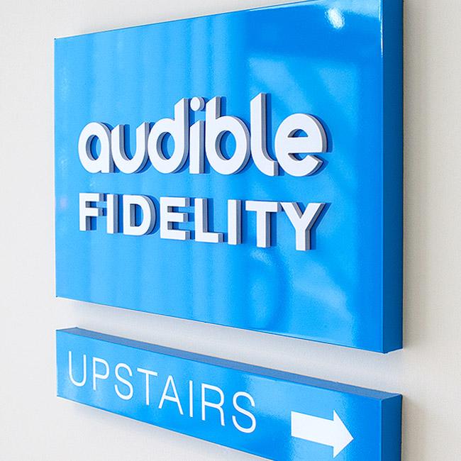 Audible Fidelity Signage Design by Wetdog Creative Signage and Branding