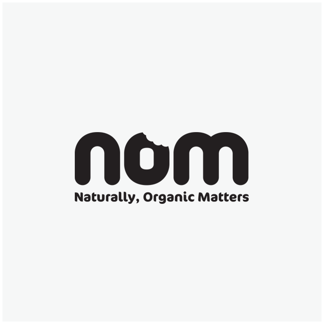 Nom (Naturally, Organic Matters) Logo Design and Branding by Wetdog Creative