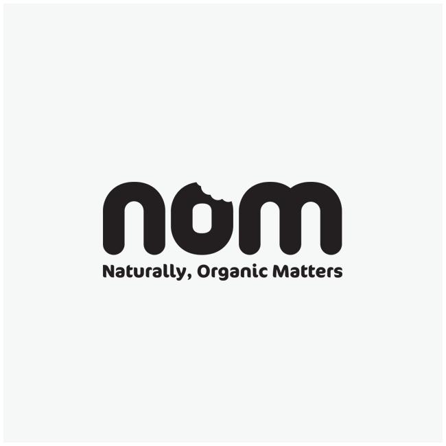 Nom (Naturally, Organic Matters) Logo Design and Branding by Wetdog Creative