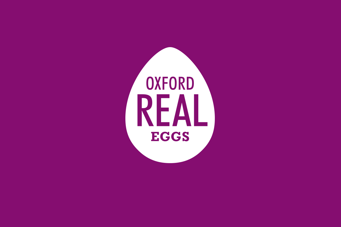 Oxford Real Eggs Logo Design by Wetdog Creative