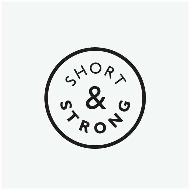 Short & Strong Café deli - logo and branding