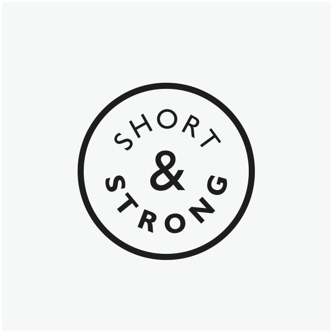 Short & Strong Café deli - logo and branding