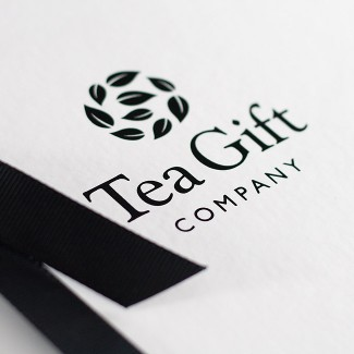 Gift box packaging design with black ribbon