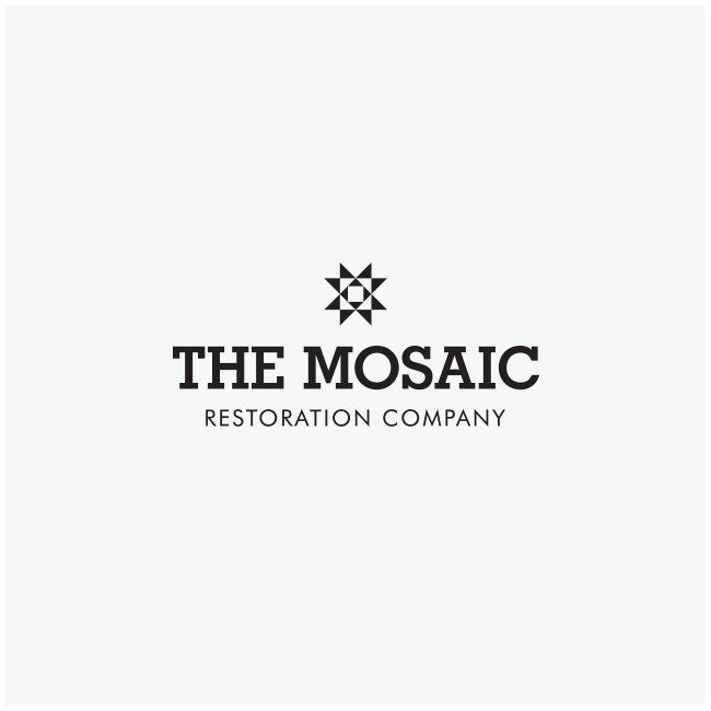 The Mosaic Restoration Company Logo Designed by Wetdog Creative