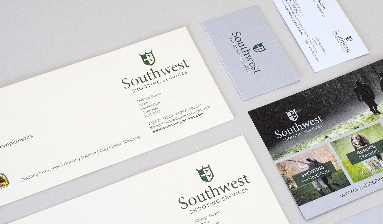 south west stationery graphic design by wetdog creative