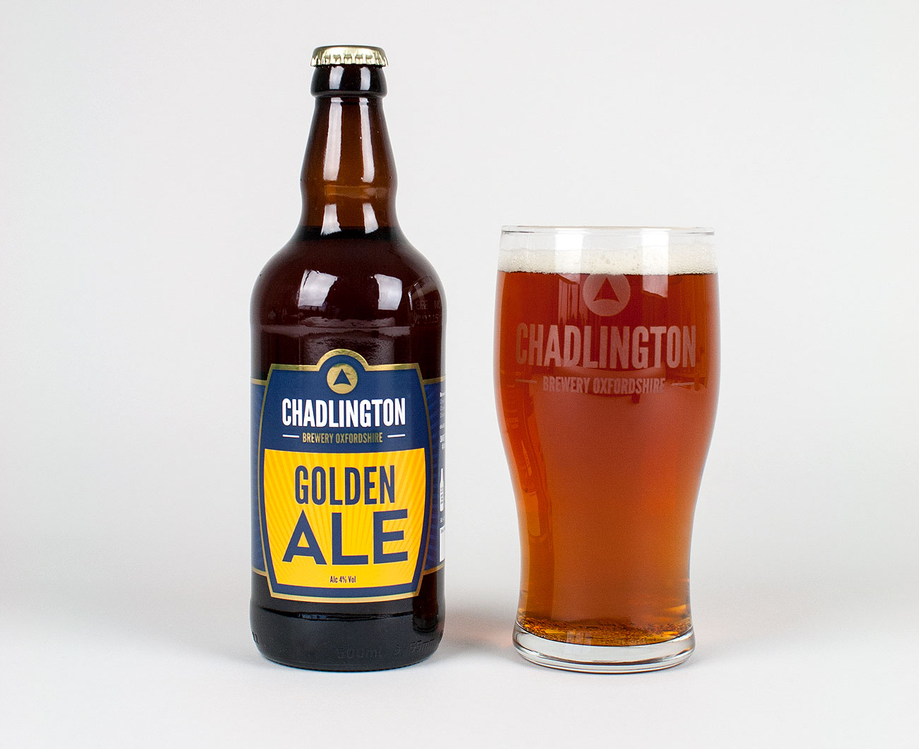 Golden Ale bottle label design