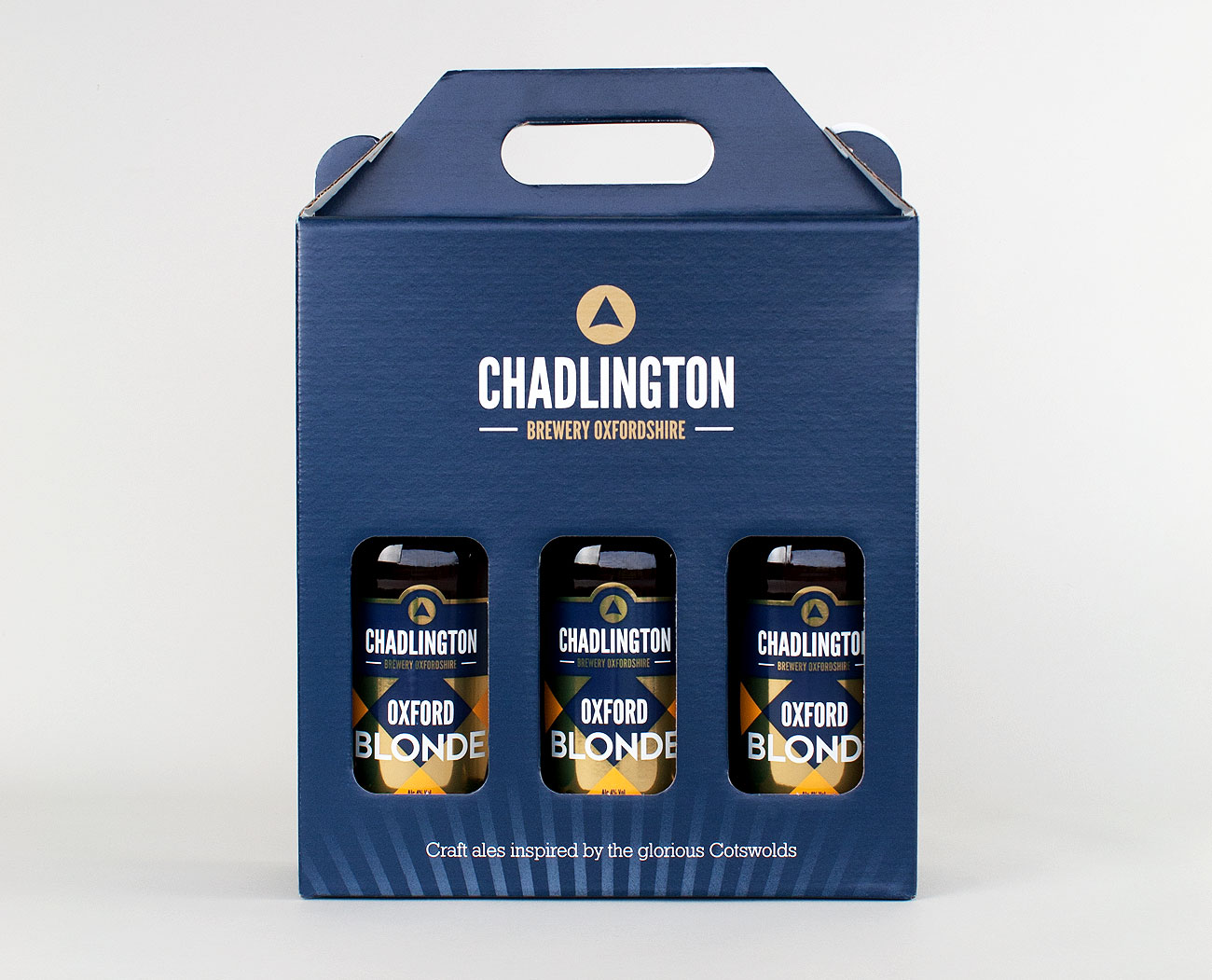 Chadlington Brewery three bottle packaging