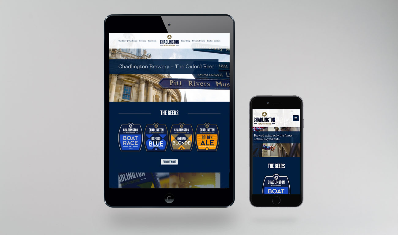 Chadlington Brewery Website Design