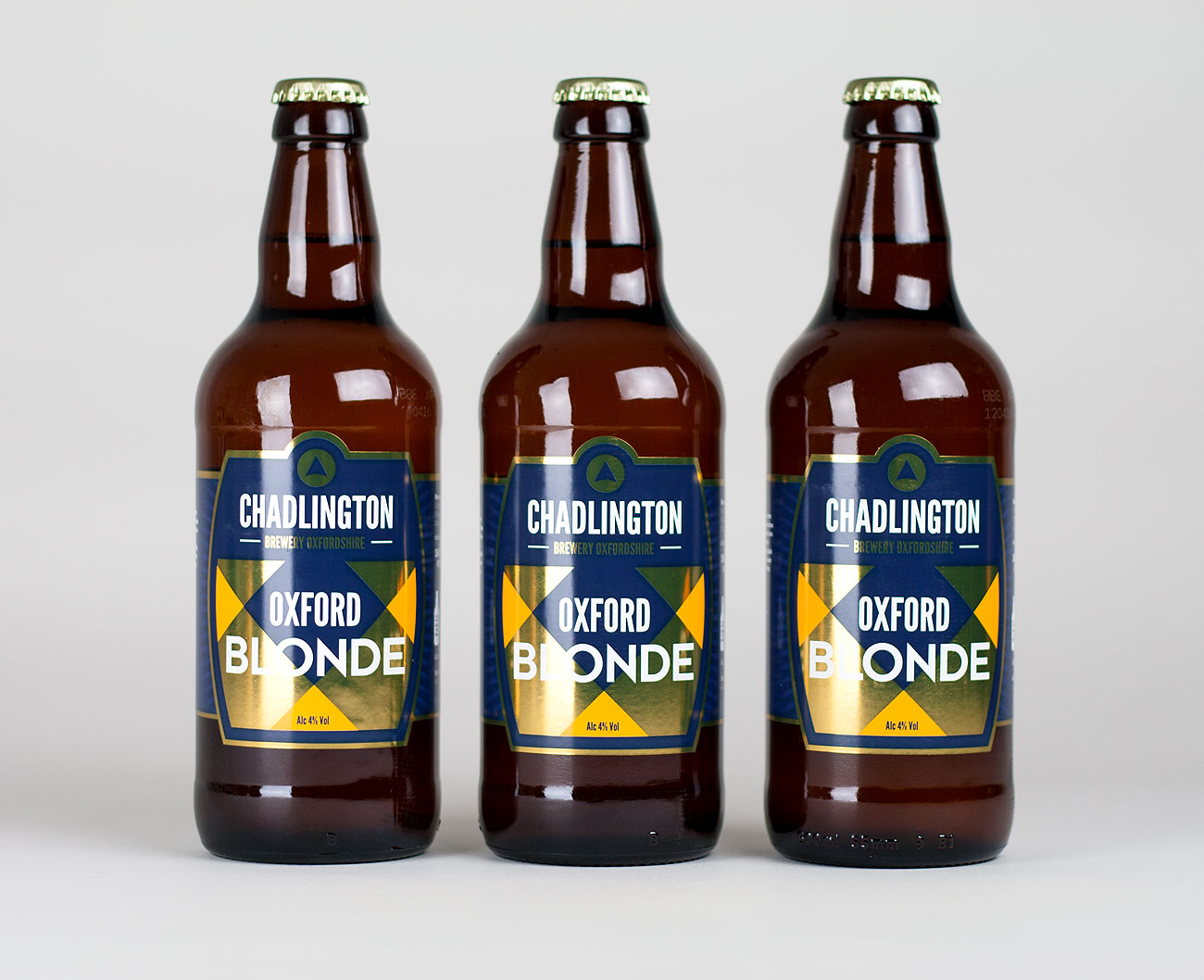 Oxford Blonde Ale bottle label design