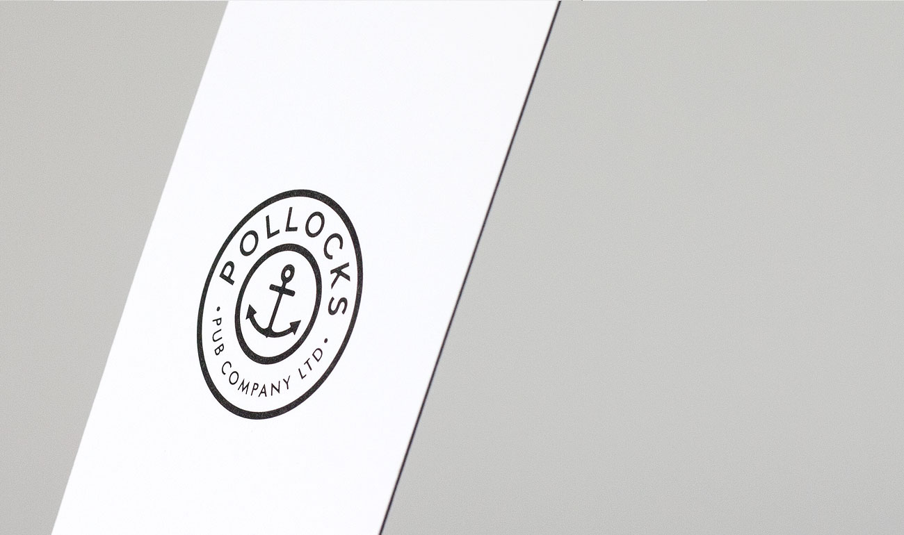 Pollocks Pub Co. Triples business card