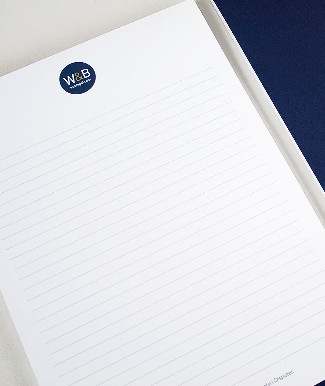 Branded A4 note pad