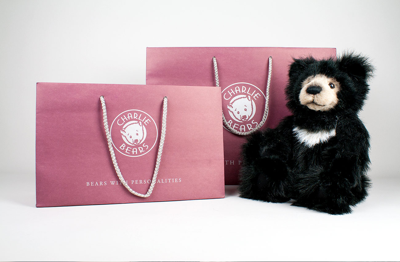 Charlie Bears gift bags - 2 colour metallic ink