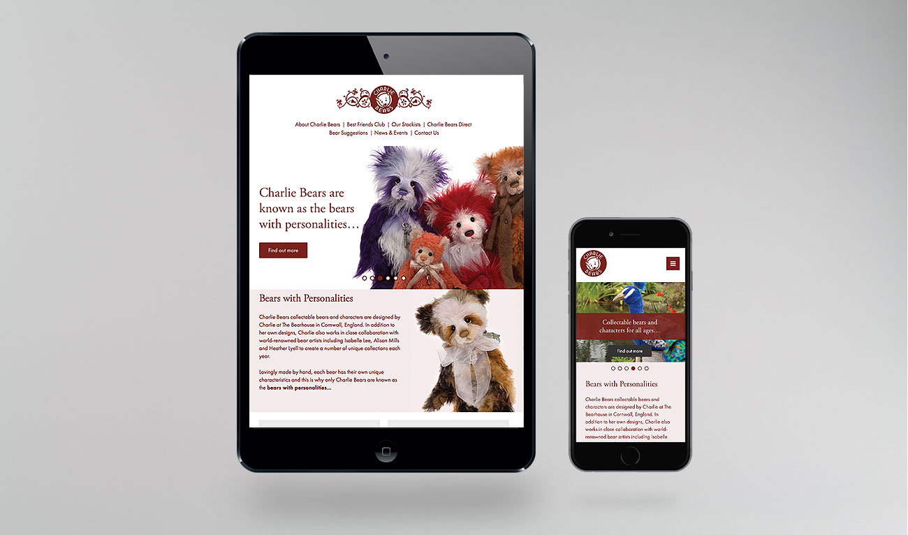 Charlie Bears website design