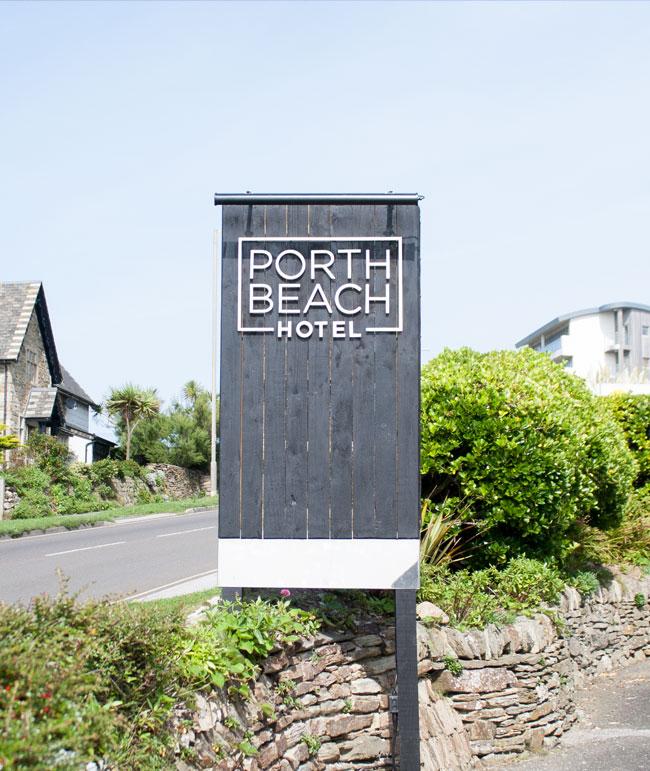 Porth Beach Hotel Signage