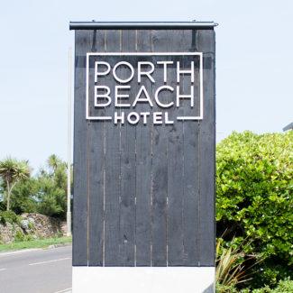 Porth Beach Hotel Branding