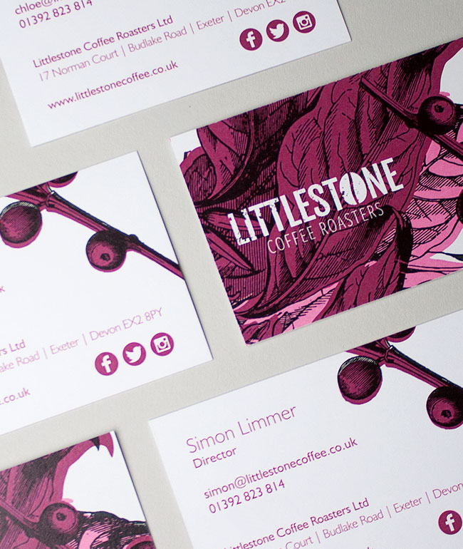 Litho printed business cards