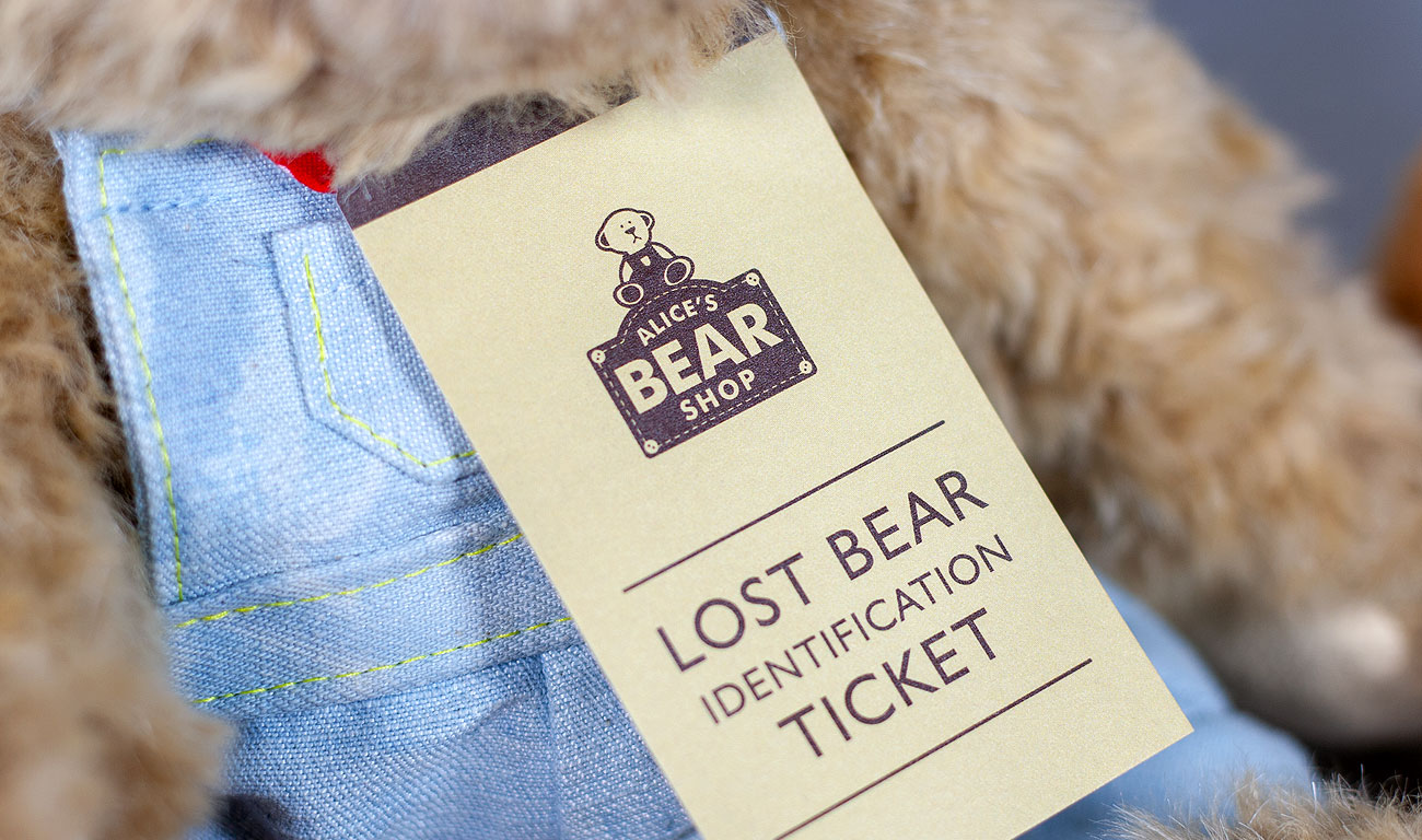 Alices Bear Shop Tags