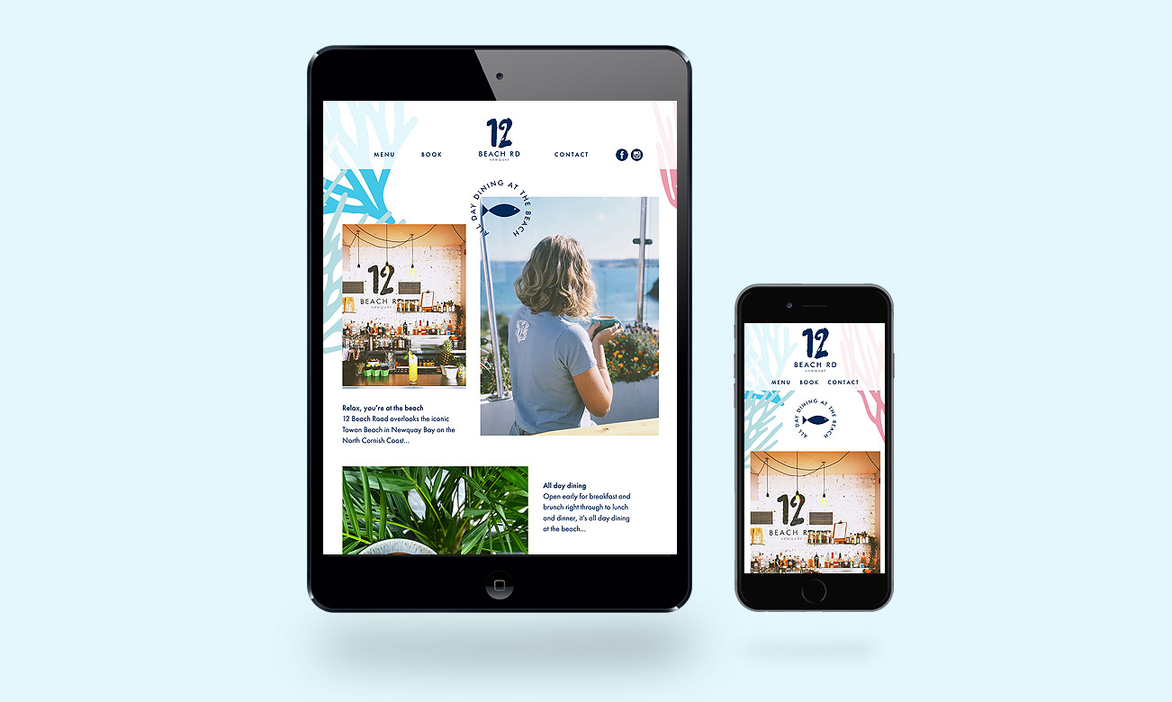 12 Beach Road responsive website
