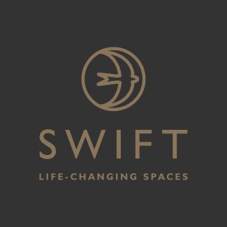 Swift Garden Rooms branding
